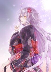 Rating: Safe Score: 18 Tags: fate/grand_order jeanne_d'arc jeanne_d'arc_(alter)_(fate) kimono penguintake User: mash