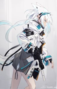 Rating: Safe Score: 9 Tags: animal_ears gun nagishiro_mito tagme tail User: Dreista