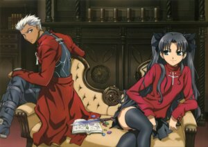 Rating: Safe Score: 34 Tags: archer fate/stay_night fate/stay_night_unlimited_blade_works nishimura_hiroyuki thighhighs toosaka_rin User: Share