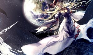 Rating: Safe Score: 28 Tags: cleavage dress skade sword touhou yakumo_yukari User: fairyren