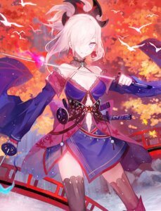 Rating: Safe Score: 43 Tags: cleavage fate/grand_order japanese_clothes miyamoto_musashi_(fate/grand_order) moemoe3345 sword thighhighs User: Mr_GT