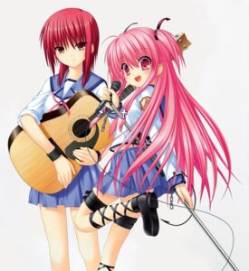 Rating: Safe Score: 13 Tags: angel_beats! garter guitar iwasawa key na-ga seifuku tagme tail yui_(angel_beats!) User: marechal