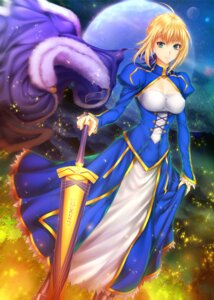 Rating: Questionable Score: 19 Tags: armor cleavage erect_nipples fate/stay_night saber sword zucchini User: mash