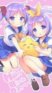 Rating: Safe Score: 19 Tags: hiiragi_kagami hiiragi_tsukasa lucky_star seifuku usashiro_mani User: Mr_GT