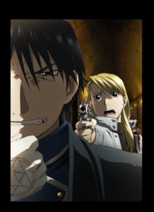Rating: Safe Score: 10 Tags: fullmetal_alchemist gun riza_hawkeye roy_mustang uniform User: herpderp