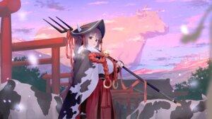 Rating: Safe Score: 16 Tags: animal_ears horns miko wallpaper wasabi60 weapon User: Dreista