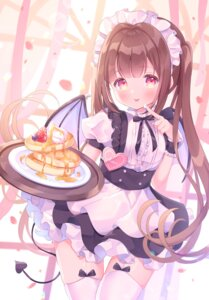 Rating: Safe Score: 24 Tags: maid omochi_monaka stockings tail thighhighs waitress wings User: Mr_GT