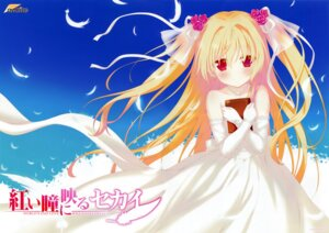 Rating: Safe Score: 65 Tags: akai_hitomi_ni_utsuru_sekai dress favorite fixed nikaidou_shinku shida_kazuhiro wedding_dress User: fireattack