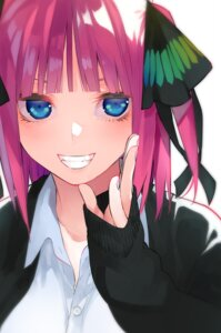 Rating: Safe Score: 52 Tags: 5-toubun_no_hanayome haruba_negi nakano_nino seifuku sweater User: kotorilau