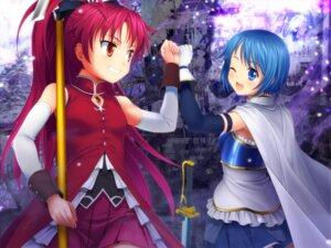 Rating: Safe Score: 17 Tags: miki_sayaka moonknives puella_magi_madoka_magica sakura_kyouko sword wallpaper User: fairyren