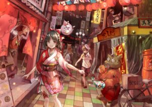 Rating: Safe Score: 31 Tags: animal_ears bandages garter japanese_clothes yache User: BattlequeenYume