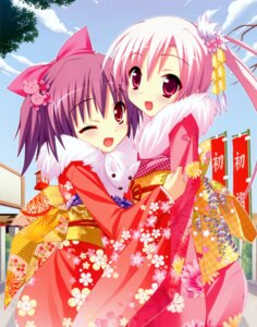 Rating: Safe Score: 52 Tags: kannagi_rei kimono macaron scanning_resolution twinkle_crusaders twinkle_crusaders_gogo! yuugiri_nanaka User: blooregardo