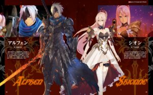 Rating: Safe Score: 17 Tags: alphen armor cleavage dress garter shionne sword tagme tales_of tales_of_arise thighhighs User: fireattack
