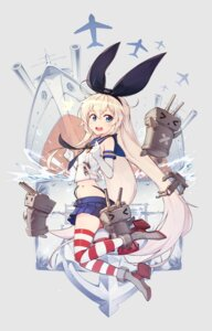 Rating: Safe Score: 38 Tags: heels hwansang kantai_collection rensouhou-chan shimakaze_(kancolle) thighhighs thong torn_clothes User: Mr_GT