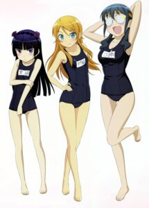 Rating: Safe Score: 91 Tags: gokou_ruri kanzaki_hiro kousaka_kirino makishima_saori megane ore_no_imouto_ga_konnani_kawaii_wake_ga_nai school_swimsuit swimsuits User: Radioactive