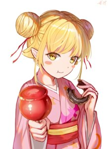 Rating: Safe Score: 13 Tags: bakemonogatari huijin_zhi_ling oshino_shinobu pointy_ears yukata User: Mr_GT