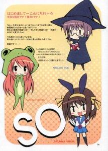 Rating: Safe Score: 10 Tags: asahina_mikuru chibi nagato_yuki seifuku spread_pink suzumiya_haruhi suzumiya_haruhi_no_yuuutsu zinno User: fireattack