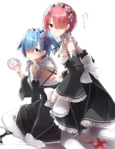 Rating: Safe Score: 42 Tags: feet maid pantyhose pentagon_(railgun_ky1206) ram_(re_zero) re_zero_kara_hajimeru_isekai_seikatsu rem_(re_zero) User: manhdang