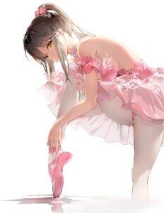 Rating: Questionable Score: 106 Tags: anmi leotard no_bra pantyhose skirt_lift User: edogawaconan