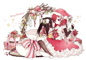 Rating: Safe Score: 49 Tags: christmas cleavage dress love_live! nishikino_maki yazawa_nico yukinokoe User: Mr_GT