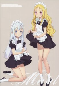 Rating: Questionable Score: 78 Tags: eromanga-sensei izumi_sagiri loli maid oyari_ashito pointy_ears skirt_lift yamada_elf User: NotRadioactiveHonest