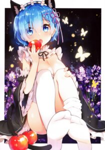 Rating: Safe Score: 84 Tags: animal_ears ayamy feet maid nekomimi re_zero_kara_hajimeru_isekai_seikatsu rem_(re_zero) tail thighhighs User: Banbinh