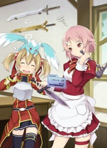 Rating: Safe Score: 42 Tags: furumiya_haiji lisbeth pina silica sword_art_online thighhighs User: Radioactive