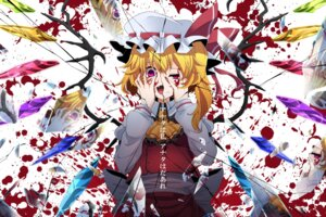 Rating: Safe Score: 34 Tags: blood flandre_scarlet rihito_(usazukin) touhou wallpaper wings User: charunetra