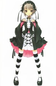 Rating: Safe Score: 35 Tags: gothic_lolita ito_noizi lolita_fashion nagato_yuki suzumiya_haruhi_no_yuuutsu thighhighs User: Share
