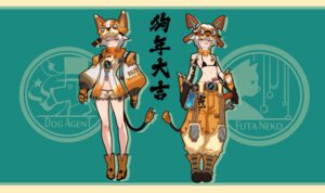 Rating: Questionable Score: 9 Tags: animal_ears bikini_top lanyaojun mecha_musume tail tattoo User: KasakiNozomi