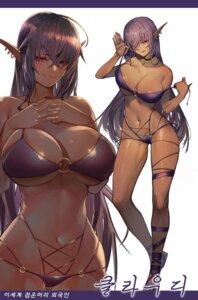 Rating: Questionable Score: 59 Tags: bikini discordia_olga elf garter gyudong123 kuroinu_kedakaki_seijo_wa_hakudaku_ni_somaru pointy_ears swimsuits undressing User: Dreista