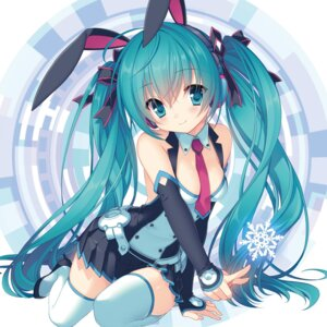 Rating: Safe Score: 93 Tags: animal_ears bunny_ears hatsune_miku sakura_neko thighhighs vocaloid User: lichtzhang