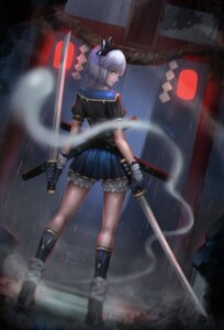 Rating: Safe Score: 30 Tags: bloomers konpaku_youmu myon san_m sword touhou User: Mr_GT