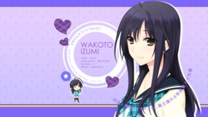 Rating: Safe Score: 39 Tags: akatsuki-works iizuki_tasuku izumi_wakoto lovely_x_cation_2 wallpaper User: girlcelly
