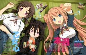 Rating: Safe Score: 24 Tags: aomi_isara koi_to_senkyo_to_chocolate morishita_michiru seifuku sumiyoshi_chisato umetsu_yukinori User: PPV10
