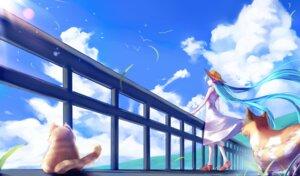 Rating: Safe Score: 37 Tags: dress hatsune_miku neko summer_dress vocaloid yuket User: Noodoll