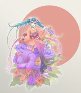 Rating: Safe Score: 14 Tags: hatsune_miku minevi thighhighs vocaloid yukata User: hobbito