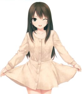 Rating: Safe Score: 75 Tags: card coffee-kizoku royal_mountain shibuya_rin skirt_lift sweater the_idolm@ster the_idolm@ster_cinderella_girls User: Twinsenzw