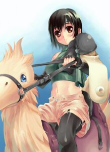 Rating: Safe Score: 12 Tags: chocobo final_fantasy final_fantasy_vii tagme yuffie_kisaragi User: Radioactive