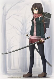 Rating: Safe Score: 25 Tags: heels musk_tiger pantyhose seifuku sweater sword User: Mr_GT