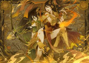Rating: Safe Score: 13 Tags: armor ching_nu_yu_hun ching_nu_yu_hun_2 cleavage kamoshi_akai leotard weapon User: charunetra