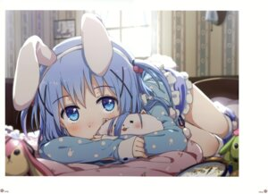 Rating: Safe Score: 80 Tags: animal_ears bunny_ears gochuumon_wa_usagi_desu_ka? kafuu_chino milky_been! ogipote pajama tippy_(gochuumon_wa_usagi_desu_ka?) User: Hatsukoi