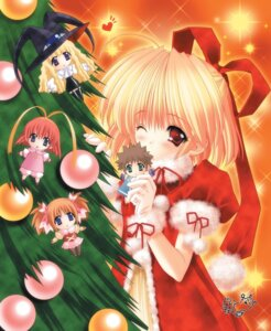 Rating: Safe Score: 8 Tags: amamiya_polan chibi christmas lilith moldavite stella_arista witch yami_to_boushi_to_hon_no_tabibito User: Radioactive