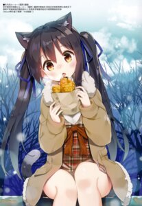Rating: Questionable Score: 38 Tags: animal_ears dress kutata mauve nekomimi tail User: Radioactive