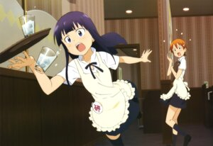 Rating: Safe Score: 30 Tags: inami_mahiru takase_tomoaki thighhighs waitress working!! yamada_aoi User: PPV10