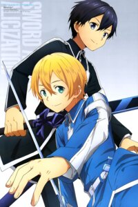 Rating: Safe Score: 14 Tags: eugeo kirito sword sword_art_online sword_art_online_alicization yokota_takumi User: drop