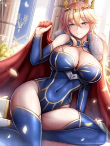 Rating: Safe Score: 41 Tags: arturia_pendragon_(lancer) cleavage fate/grand_order guardian_panda leotard thighhighs User: Mr_GT
