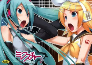 Rating: Questionable Score: 11 Tags: erect_nipples fixed ha-ru hatsune_miku kagamine_rin vocaloid User: sirkorv