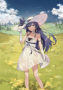 Rating: Questionable Score: 59 Tags: aliceblue benghuai_xueyuan dress fu_hua nopan see_through summer_dress User: Mr_GT