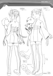 Rating: Safe Score: 8 Tags: character_design ishida_karin monochrome range_murata shangri-la sketch User: Share